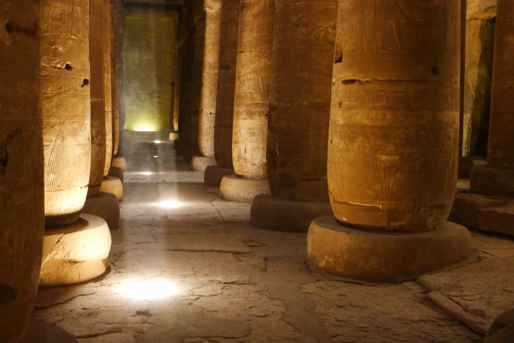 Hypostyle Temple Columns